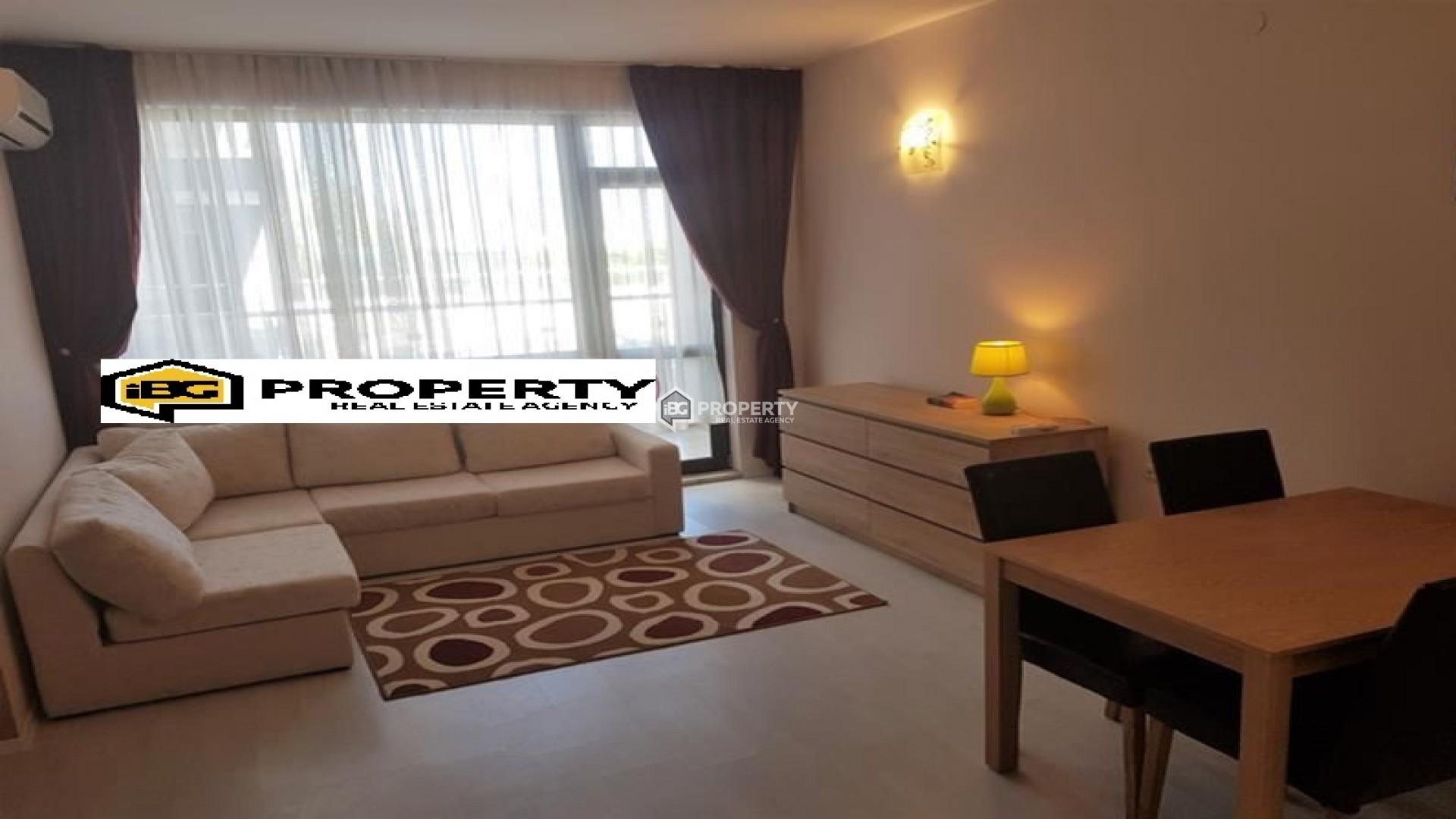 Большая однокомнатная квартира Золотые Пески, Варна 54 m2