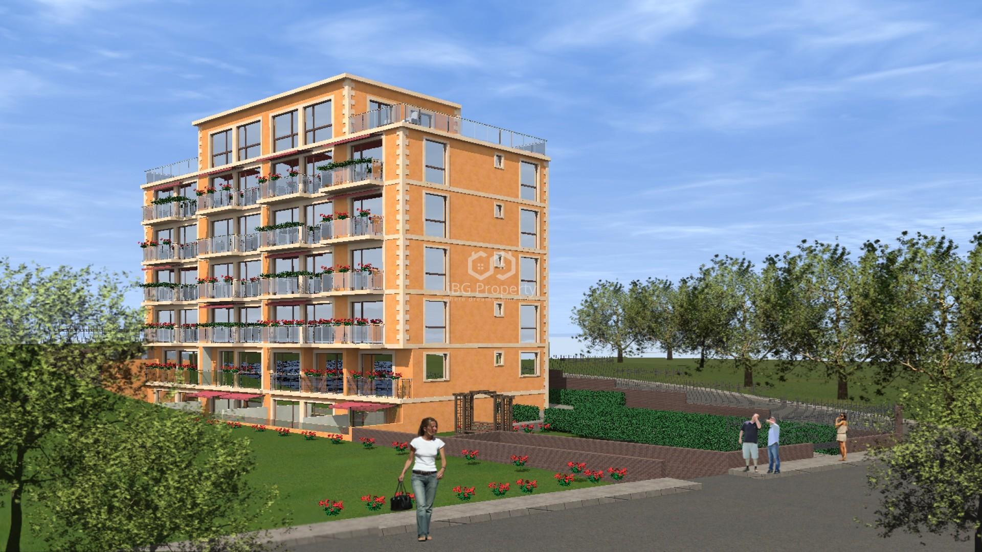 Двухкомнатная квартира Золотые Пески 48 m2