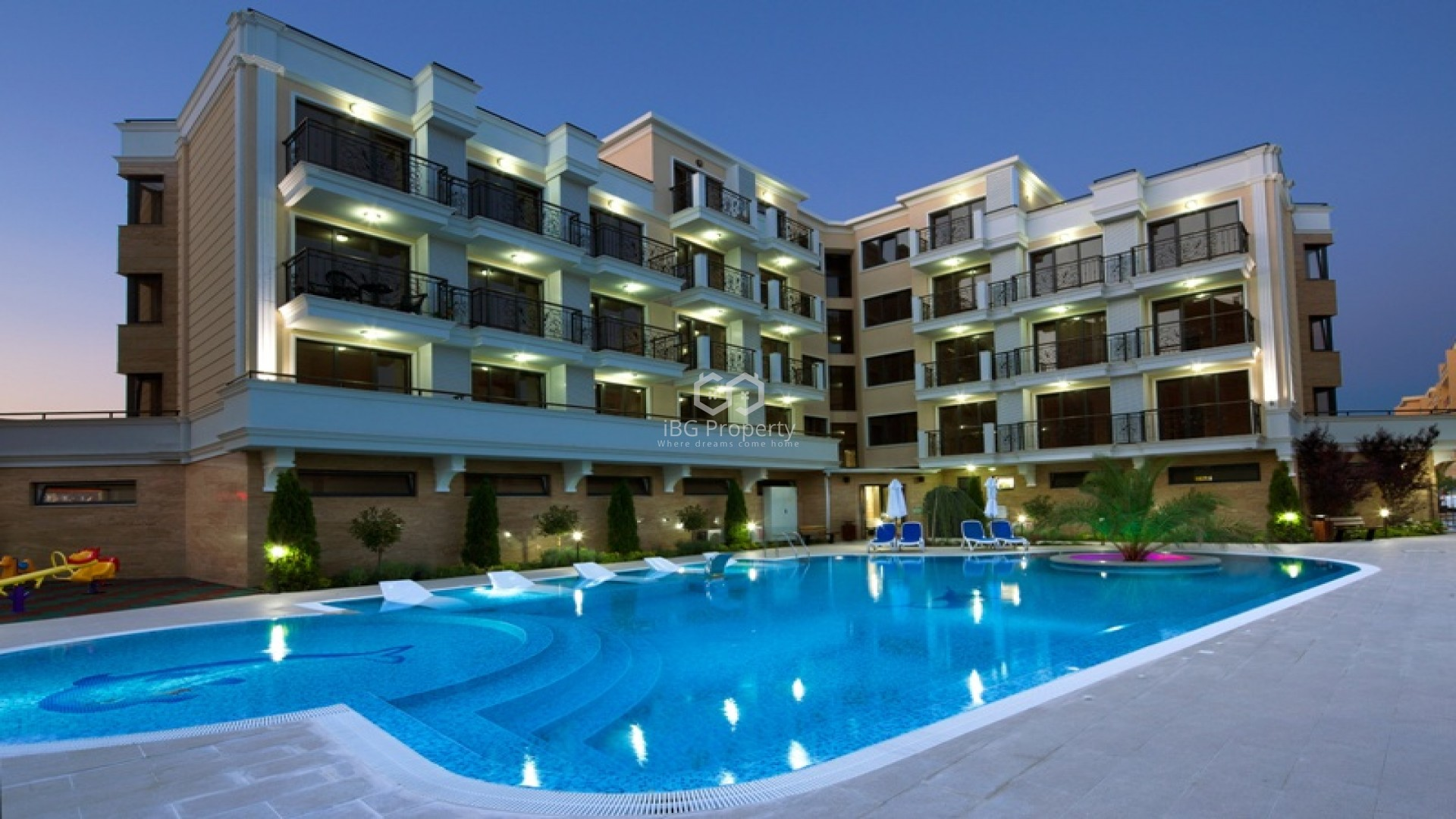 Двухкомнатная квартира Слънчев Бряг 51 m2