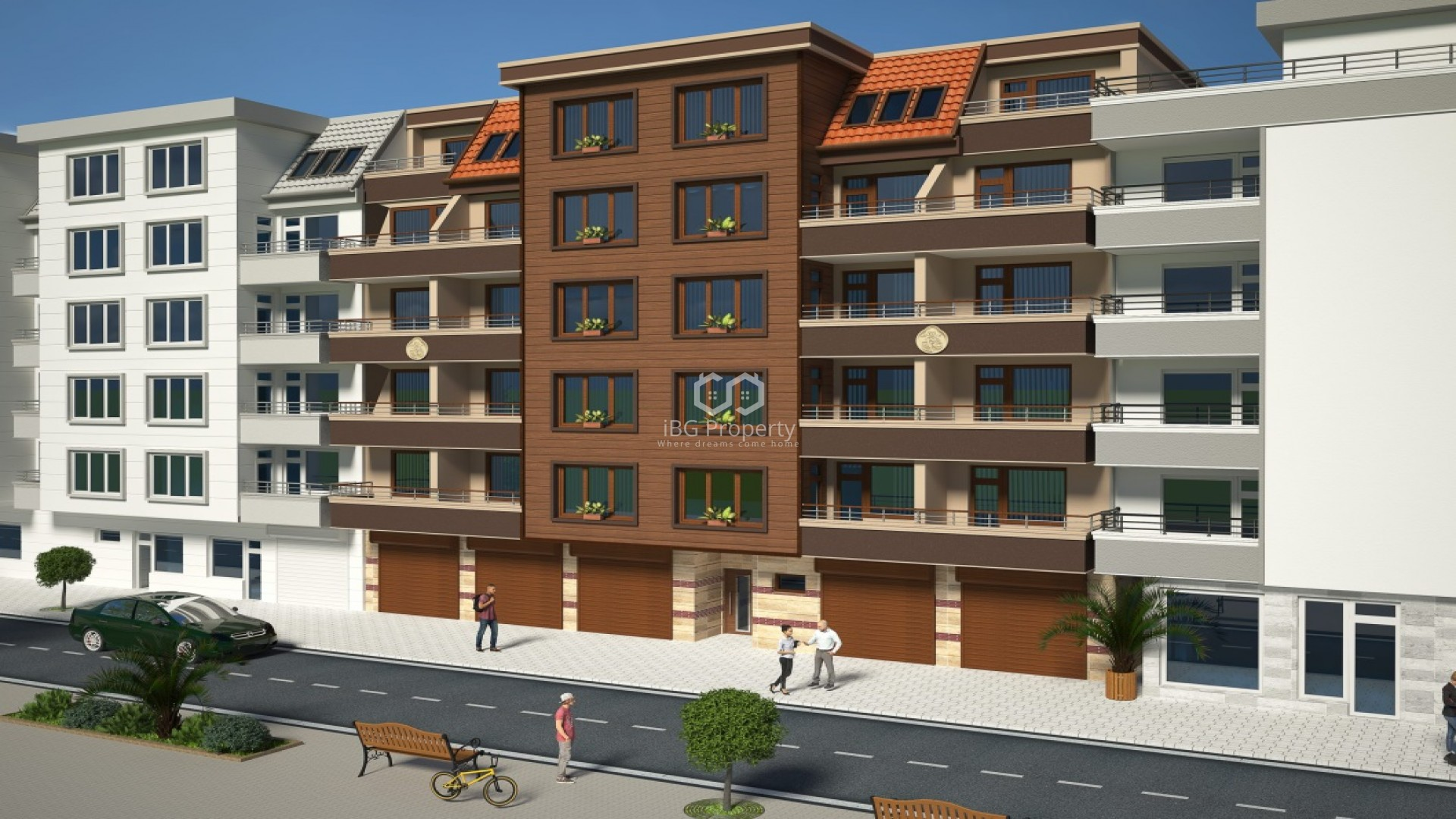 Двухкомнатная квартира Поморие 48 m2